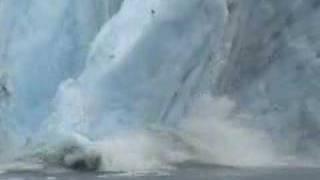 portage glacier calving