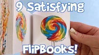 9 Oddly Satisfying Flipbooks! (compilation of flipbooks I've made)