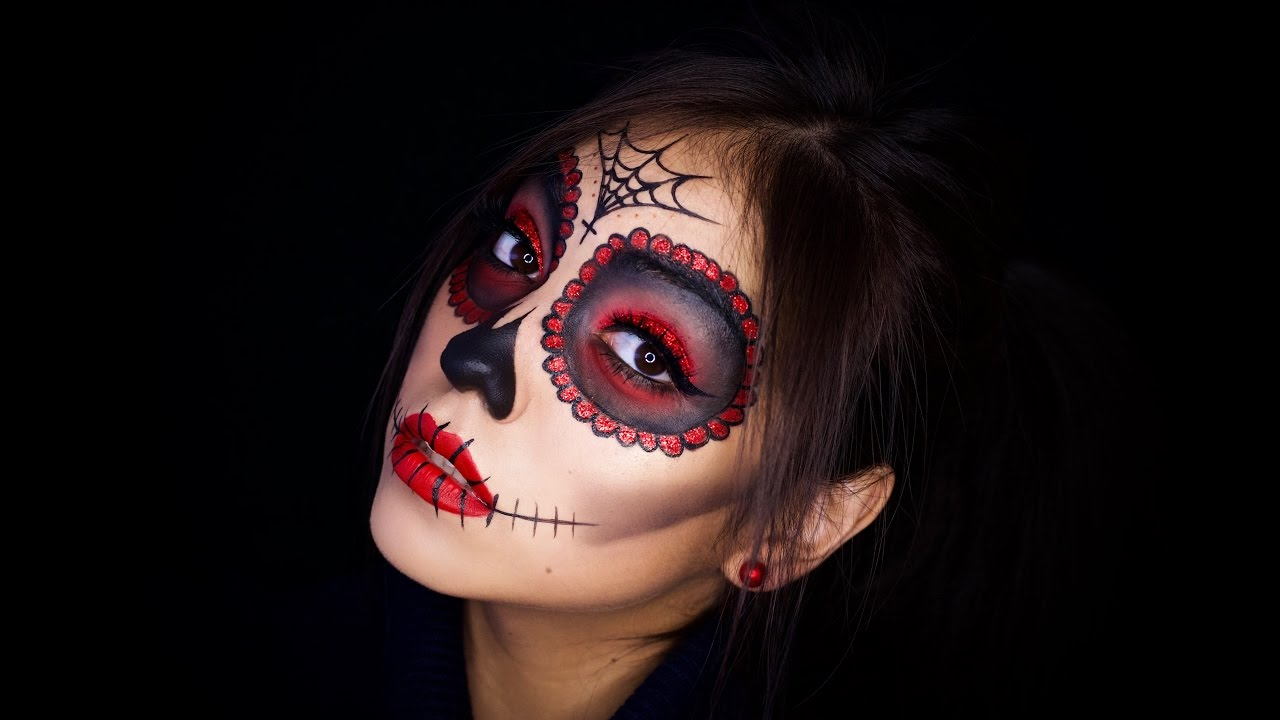 la catrina makeup tutorial halloween sugar skull youtube. Black Bedroom Furniture Sets. Home Design Ideas