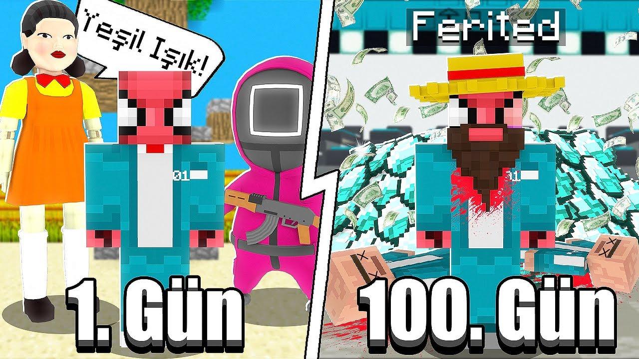 100 GÜN SQUID GAME - Minecraft