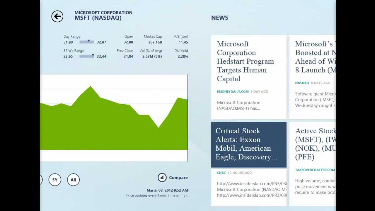 Windows 8 - Finance App - Preview