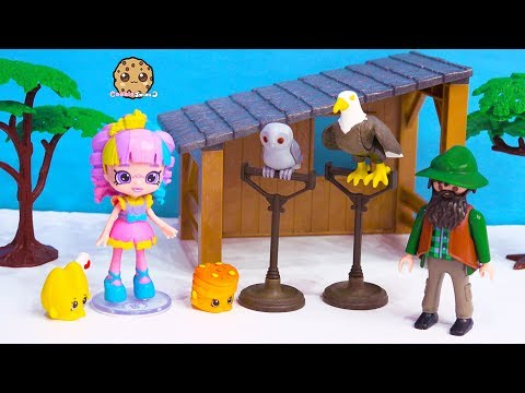Crazy Birds ! Lost In The Woods Rainbow Kate Happy Places + Shopkins Toy Video
