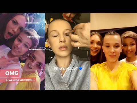 Millie Bobby Brown  Snapchat Story  13 August  at Teen Choice Awards  w Maddie & Grace