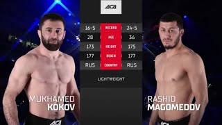 АСА 120: Мухамед Коков vs. Рашид Магомедов | Mukhamed Kokov vs. Rashid Magomedov