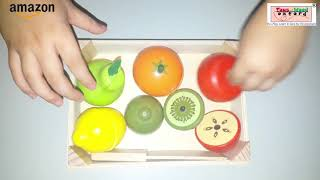 Wooden Fruit Cutting Game For Children - Toys Of Wood Oxford