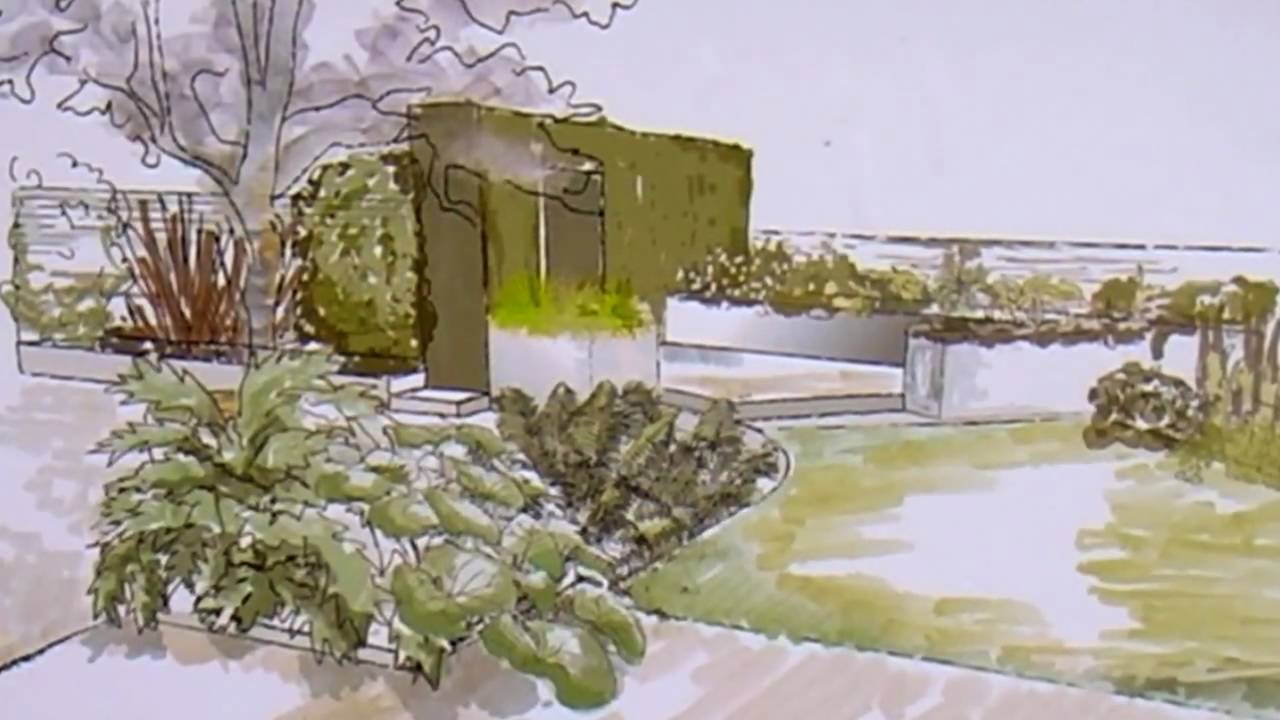 Garden Design School klc school of design - garden design at hampton court palace - youtube