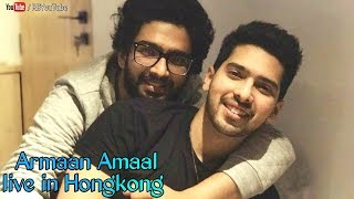 Armaan malik and amaal malik live for the first time in hong kong | enjoyment in airport, lovely