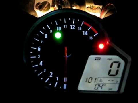 2008 Honda Cbr 1000rr Fireblade Custom Led Gauge Youtube