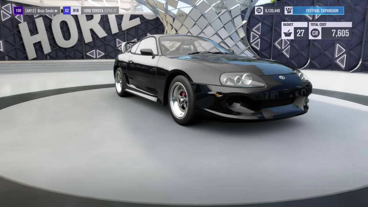 Forza Horizon 3 Toyota Supra 1000+hp Drag Build
