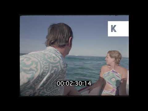 1960s, 1970s Bahamas, Glamorous Tourists on Yachts, 35mm