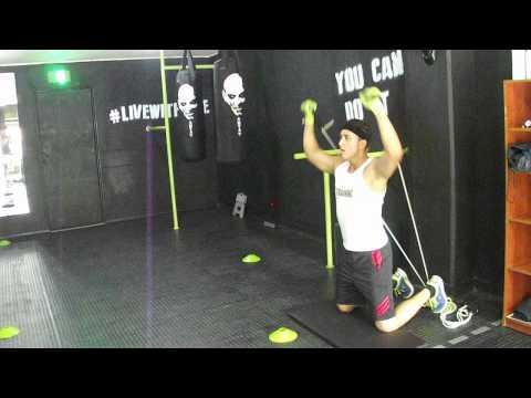 Workout en Top Training GYM; Medellín, Colombia
