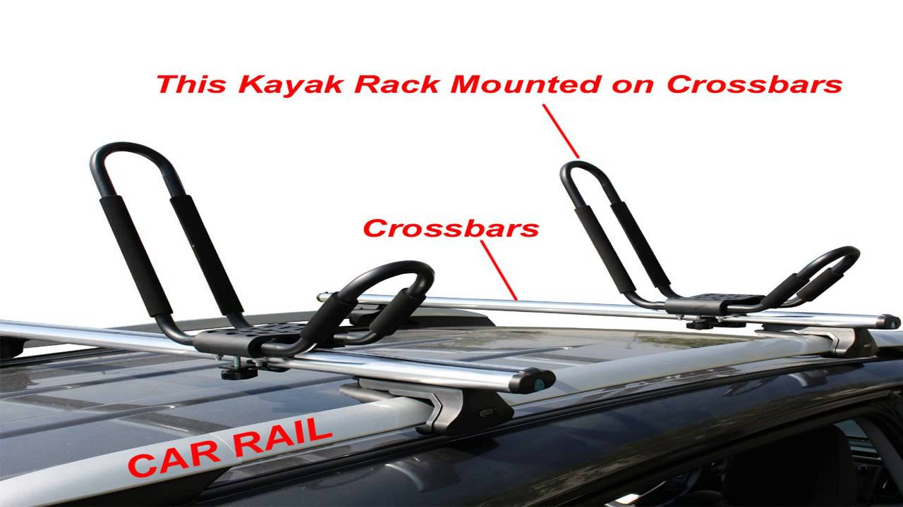 Apontus Universal Kayak Roof Rack J Bar 2 Pairs
