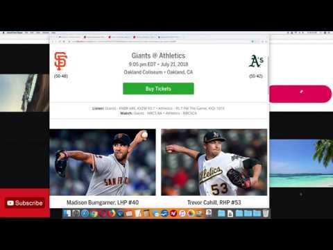 top-mlb-pick-san-francisco-giants-vs-oakland-a's-7/21/18-saturday-baseball-video