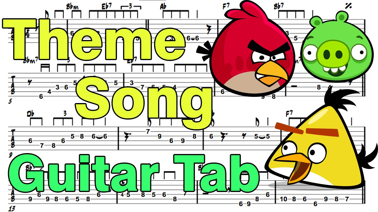 Angry Birds Theme - Fingerstyle Guitar - YouTube