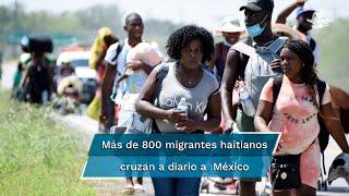 A bordo de balsas, cerca de 800 personas ingresan a México, apoyadas por polleros y ante la mirada pasiva de elementos de la Guardia Nacional y el INM