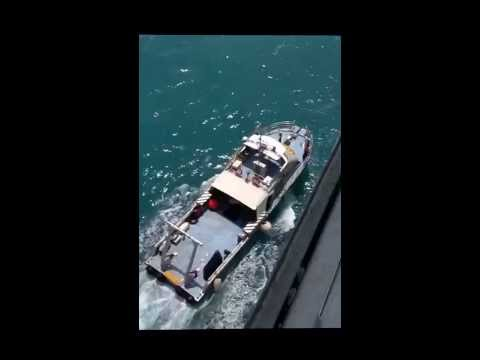 Picking up Pilot off Broome Western Australia -Dawn Princess
