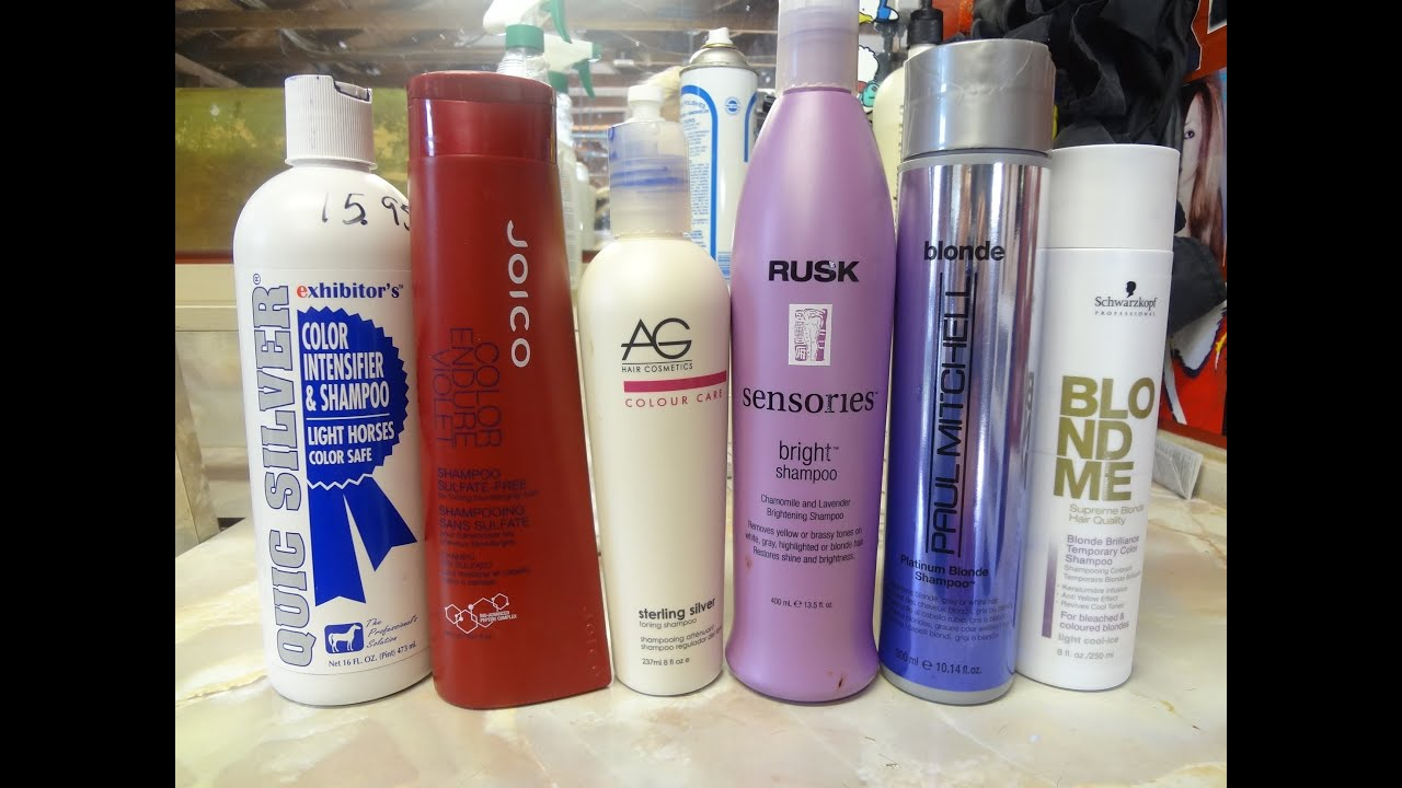 How To Diy Tone Briness On Blonde And Highlight Hair Purple Shampoo