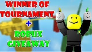Winner of Doomspire Tournament + ROBUX GIVEAWAY