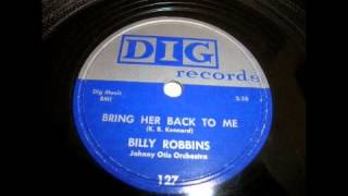 Billy Robbins - Bring Her Back To Me 78 rpm!