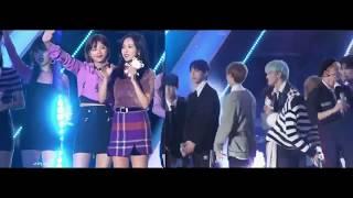 [NCTWICE] Nayeon (Twice) & Taeyong (NCT) - Pyeongchang K-POP Concert Moments