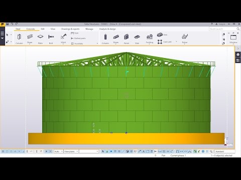 Fuel Storage Tank Creation Part - 5 in TEKLA STRUCTURES