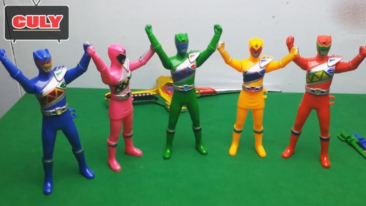 Bộ 5 anh em siêu nhân thú diện long chiến đội Kyoryuger Power rangers đồ  chơi trẻ em toy fod kids