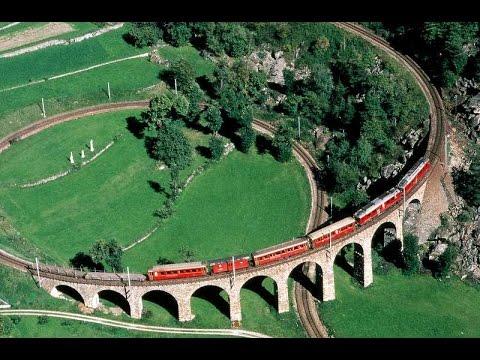 FILM COMPLETO Trenino rosso del Bernina - Ferrovia Retica Tirano - Bernina - Sankt Moritz UNESCO