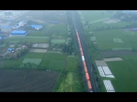 Europe-bound Freight Train Arrives in Northwest China's Xinjiang