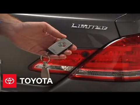2005-2007 Avalon How-To: Theft Deterrent System - Turning The Alarm Off (Limited)   Toyota