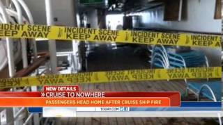 Cruise ship catches fire at sea