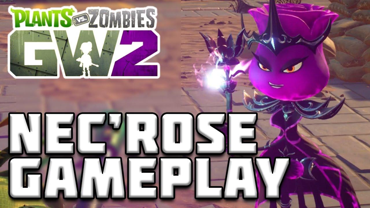 BRAND NEW NEC'ROSE GAMEPLAY! Plants vs Zombies Garden ...