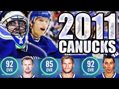 2010-2011 Vancouver Canucks In NHL 18! Stanley Cup Finals/President's Trophy Winners: Sedins, Luongo
