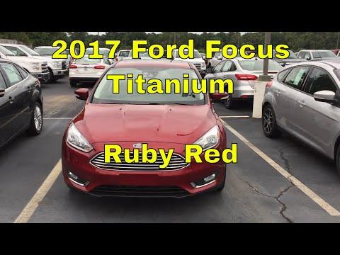 2017 Ford Focus Titanium 4 Door Sedan Walkaround and Look Inside