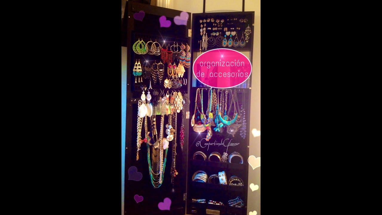 Como organizar tus accesorios collares aretes  pulseras