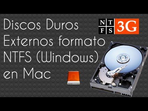 Discos duros de Windows (Ntfs) en Mac con MacFuse y Ntfs-3g
