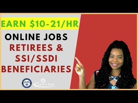 💻Online Jobs for Retired Seniors & SSI/SSDI Beneficiaries | Online, Remote Work-At-Home Jobs 2020