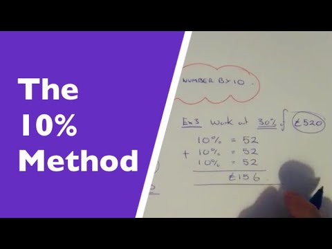 The 10% Method. How To Work Out A Percentage Of An Amount Without A Calculator.