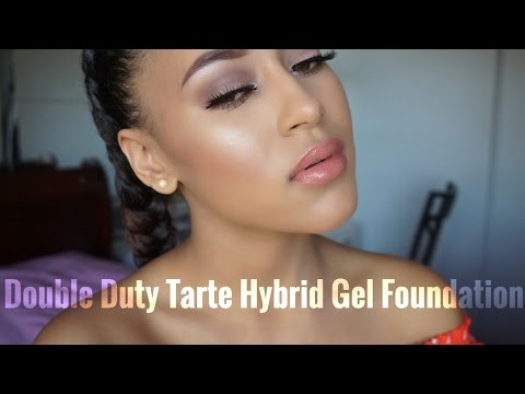 First Impression & Review Tarte Double Duty Empowered Hybrid Gel Foundation| Jenae Alyce