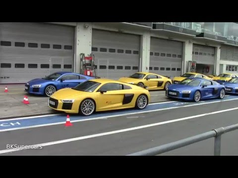 Audi Driving Experience Audi R8 V10 Plus Driving on the GP Track at Nürburgring / BKSupercars