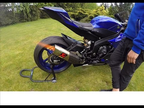 2017 Yamaha R6  walk around + akrapovic sound