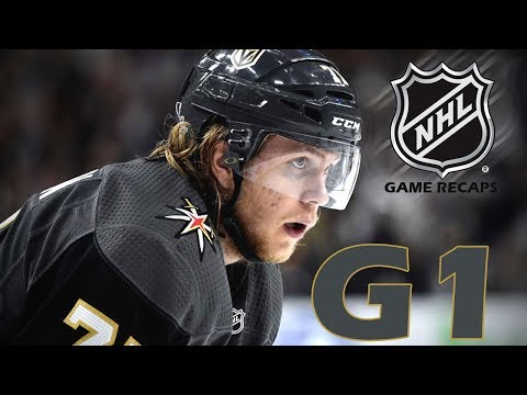 San Jose Sharks vs Las Vegas Golden Knights. 2018 NHL Playoffs. Round 2. Game 1. 04.26.2018. (HD)