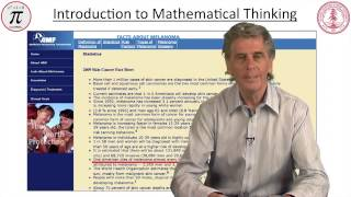 mathimatical thinking lecture 1 introductory material