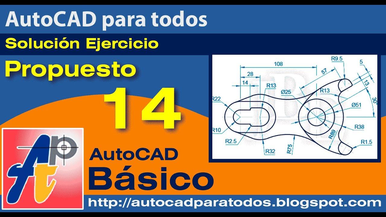 Solución Ejercicio Propuesto 14 - AutoCAD Básico