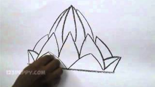 How to Draw a Lotus Temple