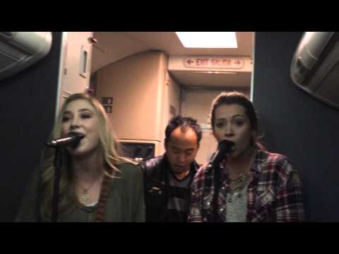 Maddie and Tae perform at 35,000 feet