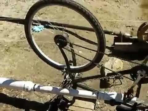 Bicycle Water Wheel for Hydro Power Using a Siphon
