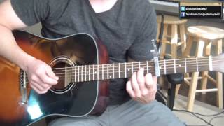 Mumford and Sons - Hopeless Wanderer - Guitar Tutorial (ALL PARTS:INTRO, VERSE, CHORUS, OUTRO) - Stafaband