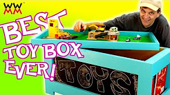 DIY Toy Box. Super easy to build. Free plans!