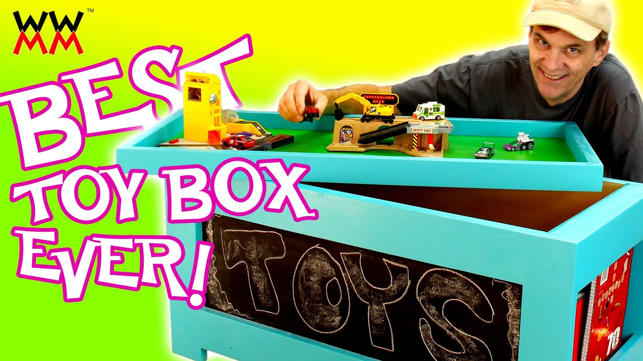 DIY Toy Box. Super easy to build. Free plans! - YouTube
