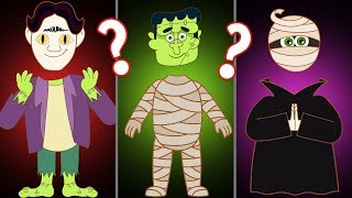 WRONG HEADS MONSTERS FOR KIDS | Learn Colors with Spooky Puzzle Games by Annie and Ben